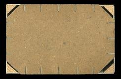 Embalaje de madera posterior Foto de archivo libre de regalías