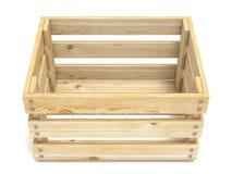 Embalaje de madera vacío Front View 3d Stock de ilustración
