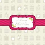 Embalaje de regalo de la Navidad Imagen de archivo