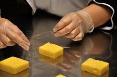 Embalaje del queso Fotografía de archivo libre de regalías