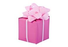Embalaje del regalo, rectángulo rosado fotografía de archivo libre de regalías