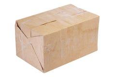 Embalaje. rectángulo del cartón, aislado Foto de archivo libre de regalías