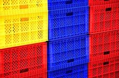 Embalajes plásticos coloridos. Fotos de archivo libres de regalías