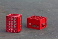 Embalajes rojos Foto de archivo
