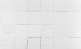 Embaldosado blanco de la pared, textura del fondo del primer Fotos de archivo libres de regalías