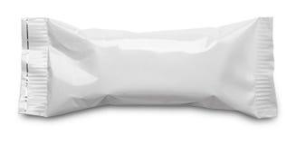 emballage alimentaire vide de sachet en mati re plastique sur le blanc image stock image du. Black Bedroom Furniture Sets. Home Design Ideas