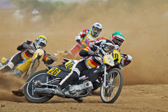 Emballage allemand de grasstrack Photographie stock