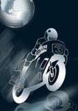 emballage argenté de motocyclette   Photographie stock