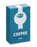 Emballage av ² 1 för lösligt kaffe 3Ð Arkivfoto