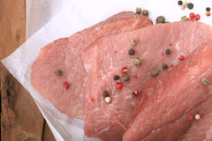 Emballage blanc de filet de viande fraîche Photo stock