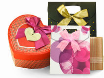 Emballage, boîtes et paquets de cadeau Photographie stock libre de droits