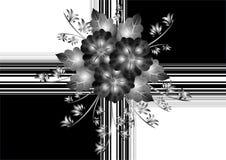 Emballage cadeau avec les fleurs abstraites Illustration de Vecteur