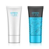Emballage cosmétique, tube en plastique ovale Photo stock