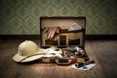 Emballage d'explorateur pour un voyage photos stock