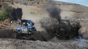 Emballage de boue de tracteur Photographie stock