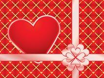 Emballage de cadeau avec le valentine rouge Photographie stock libre de droits