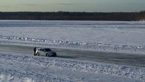 Emballage de glace de voiture de course de rassemblement clips vidéos