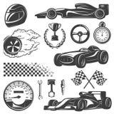 Emballage de l'ensemble noir d'icône illustration stock