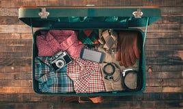 Emballage de voyageur de hippie Images stock