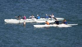 Emballage des canoës de tangon sur le Golfe du Mexique image stock
