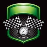 Emballage des indicateurs et de l'indicateur de vitesse sur l'affichage vert Photographie stock libre de droits