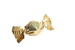 Emballage doux d'or de sucrerie Image stock