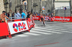 Emballage du cycliste à la La Vuelta España Image stock