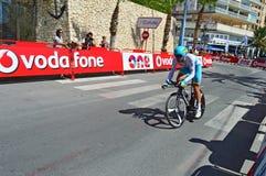Emballage du cycliste au procès de temps de Vuelta España TTT de La Images stock