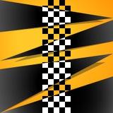 Emballage du fond carré Abstraction de vecteur dans l'emballage, style d'échecs Illustration pour votre conception illustration stock