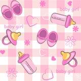 Emballage et fond de bébé Photographie stock