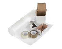 Emballage et substance d'expédition Images stock