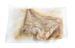 Emballage för vakuum för Sous Vide kaninlegsin Når att ha lagat mat arkivbilder