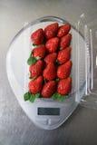 emballage jordgubbe royaltyfri foto