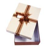 Emballage ouvert de cadeau Photographie stock libre de droits