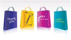 emballage shopping royaltyfri illustrationer