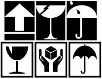 emballage symboler för ask Arkivbilder