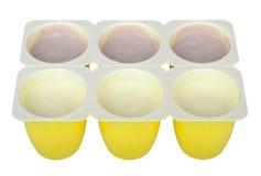 emballage yoghurt Royaltyfri Foto