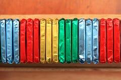 Emballages colorés Photographie stock libre de droits