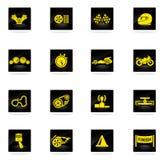 Emballant des icônes réglées Image libre de droits
