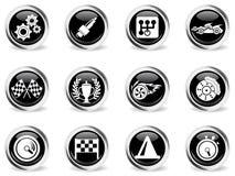 Emballant des icônes réglées Photo libre de droits