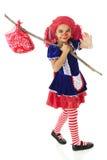 Emballement heureux de poupée de chiffon Images libres de droits