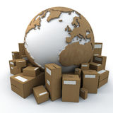 emballerad värld Arkivfoto