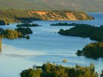 Embalse de Mediano, Ainsa (Espagne) Images stock