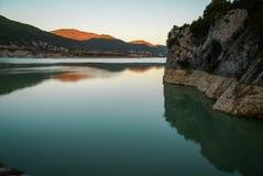 Embalse de Pena, Aragonien, Spanien Stockfotografie