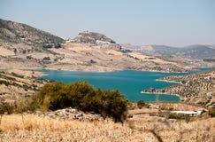 Embalse de Zahara and Zahara de la Sierra Royalty Free Stock Photo