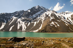 Embalse El Yeso, Chile stock photos