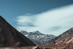 Embalse El Yeso, Chile royaltyfria foton