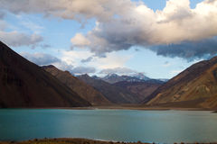 Embalse El Yeso reservoir, Chile Royalty Free Stock Photography