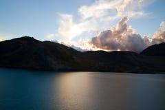 Embalse El Yeso reservoir, Chile Royalty Free Stock Photo