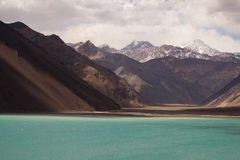Embalse El Yeso rezerwuar, Chile obraz stock